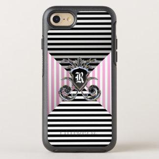 French Stripe Pattern Girly Monogram OtterBox Symmetry iPhone 7 Case