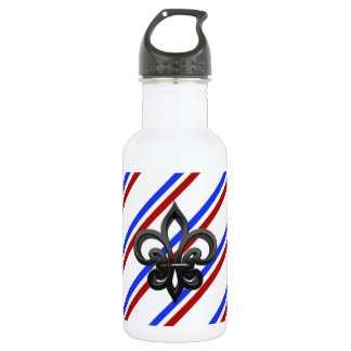 French stripes flag 532 ml water bottle