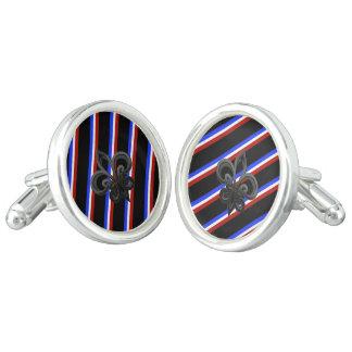French stripes flag cufflinks