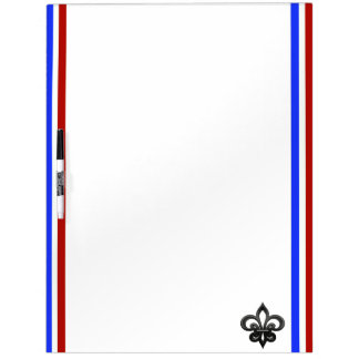 French stripes flag dry erase board