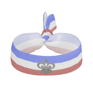 French stripes flag hair tie