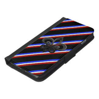 French stripes flag iPhone 6/6s plus wallet case