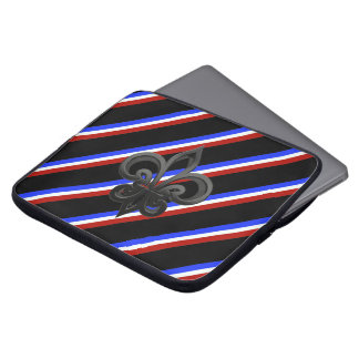 French stripes flag laptop sleeve