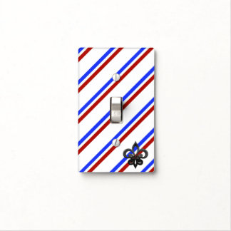 French stripes flag light switch cover
