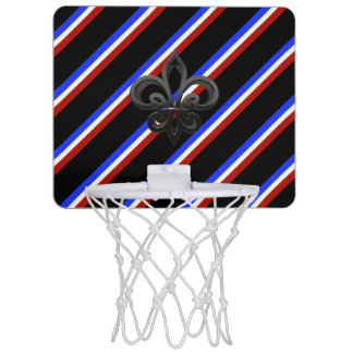 French stripes flag mini basketball hoop