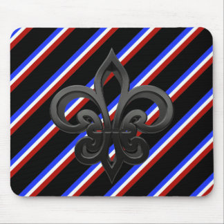 French stripes flag mouse pad