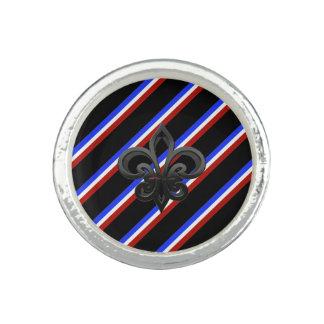 French stripes flag ring
