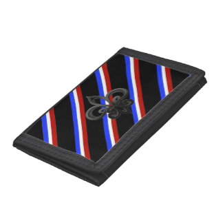 French stripes flag trifold wallets