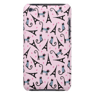 French Style Dressed Cat With Eiffel Tower Pattern iPod Touch Cases