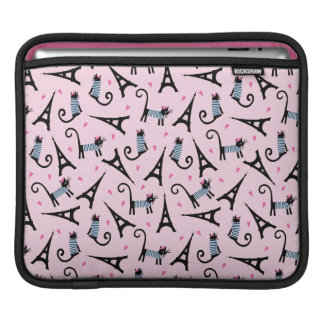 French Style Dressed Cat With Eiffel Tower Pattern Sleeve For iPads