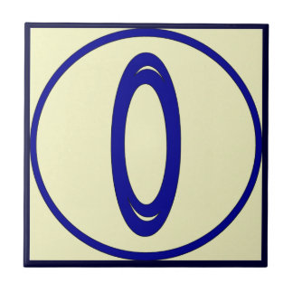French Style House Numbers 0 Tile