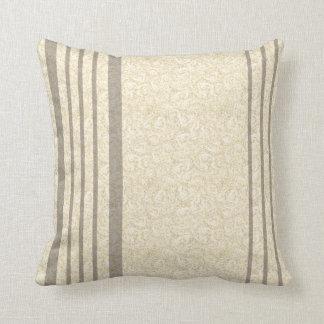 French Style Stripe Polyester Throw Pillow