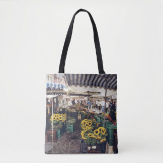 French Sunday Market Tote Bag