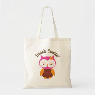 French Teacher Owl Budget Tote Bag