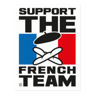 FRENCH TEAM POSTCARD