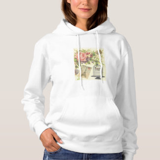 French Theme Vintage Paris Hooded Sweatshirt