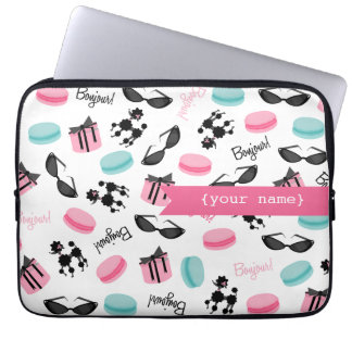 French Themed Personalized Electronics Bag