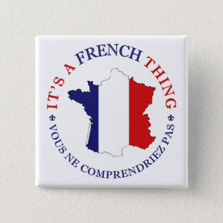 French Thing 2 Inch Square Button