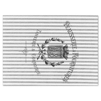 French Ticking Tissue Paper - Black