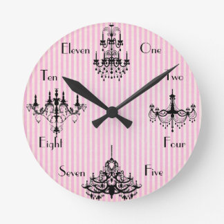 French Time Round Clock