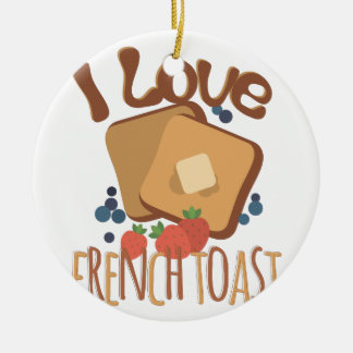 French Toast Ceramic Ornament