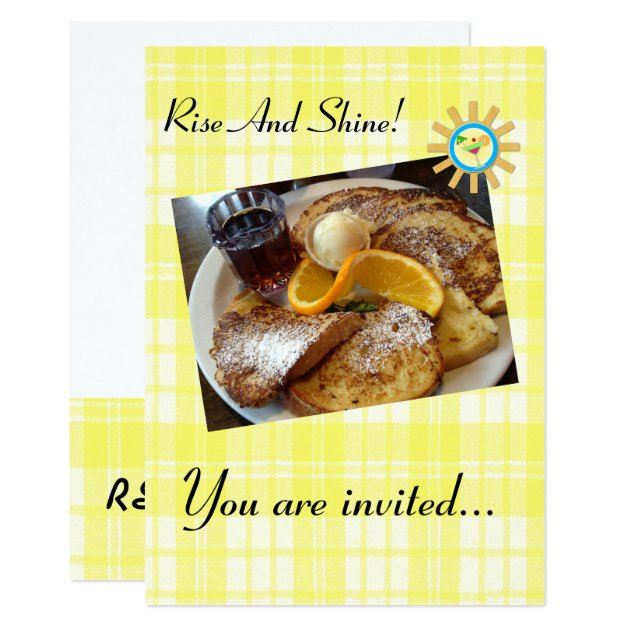 Breakfast Invitations & Announcements | Zazzle Canada