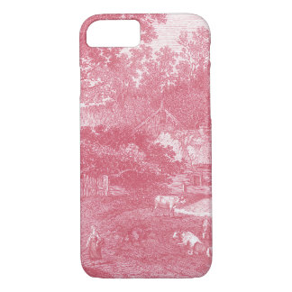 French Toile de Jouy Shabby Counry Landscape iPhone 7 Case