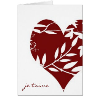 French Toile Valentine-I Love You (Informal) Card