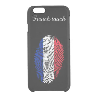French touch fingerprint flag clear iPhone 6/6S case