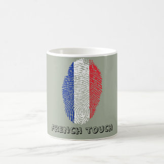 French touch fingerprint flag coffee mug