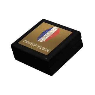 French touch fingerprint flag keepsake box