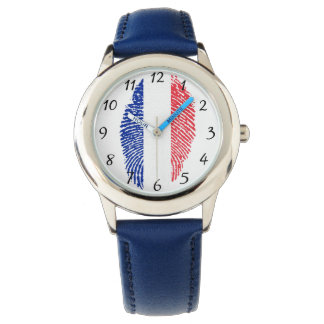 French touch fingerprint flag watches