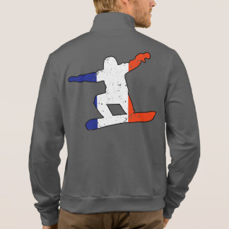 French Tricolor SNOWBOARDER (blk) Jacket
