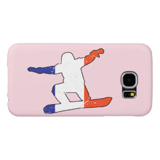 French Tricolor SNOWBOARDER (blk) Samsung Galaxy S6 Cases