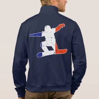 French Tricolor SNOWBOARDER (wht) Jacket