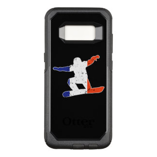 French Tricolor SNOWBOARDER (wht) OtterBox Commuter Samsung Galaxy S8 Case