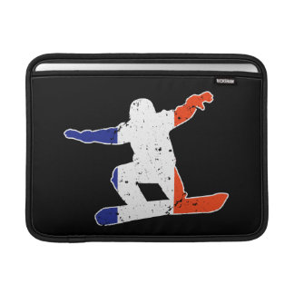 French Tricolor SNOWBOARDER (wht) Sleeve For MacBook Air