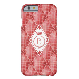 French Trompe L'oeil Tufted Red Diamond Monogram Barely There iPhone 6 Case