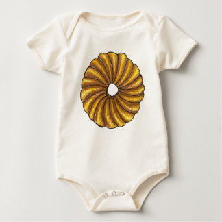 French Twist Breakfast Food Glazed Donut Doughnut Baby Bodysuit
