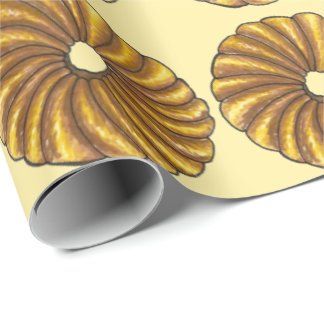 French Twist Donut Pastry Doughnut Gift Wrap