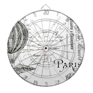 French Typography Butterfly Paris Design Dartboard