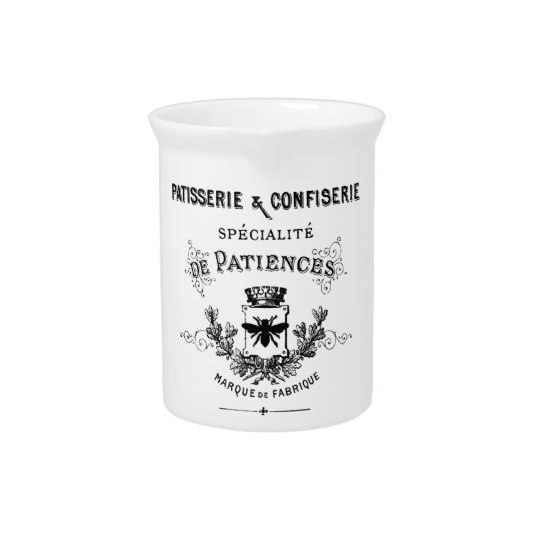 French typography pitcher