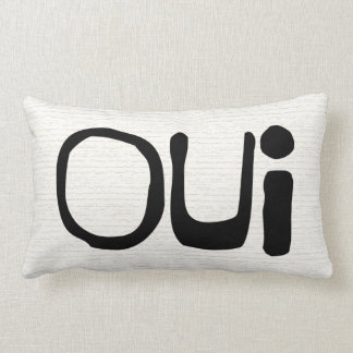 French Typography Throw Pillow (Oui)