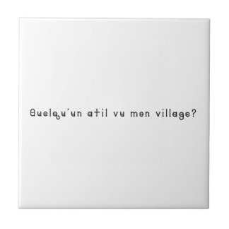 French-Village Ceramic Tile