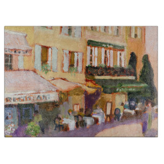 French Village Cutting Board