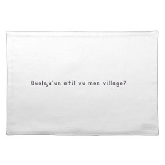 French-Village Placemat