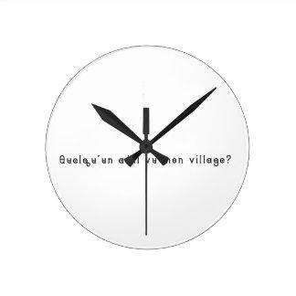 French-Village Round Clock