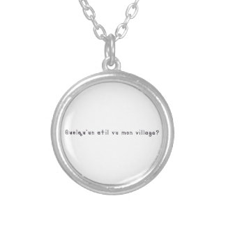 French-Village Silver Plated Necklace