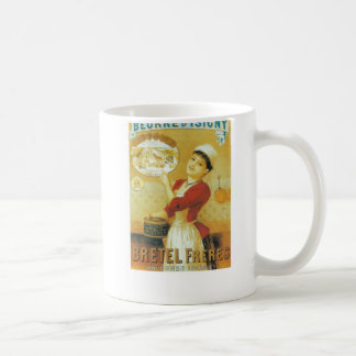 French vintage advert woman traditional clothes coffee mug