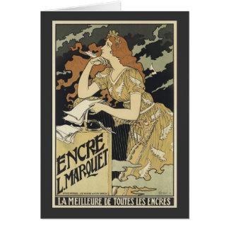 French Vintage Art Nouveau Card